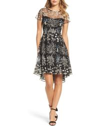 Adrianna Papell - Ethereal Fit & Flare Dress - Lyst