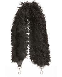 Fendi | Genuine Alpaca Fur Guitar Strap | Lyst