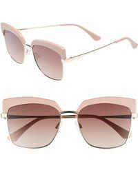 Chelsea28 - Isabella 56mm Cat Eye Sunglasses - Milky Rose - Lyst