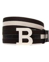 Bally - B-buckle Reversible Webbed Belt - Lyst