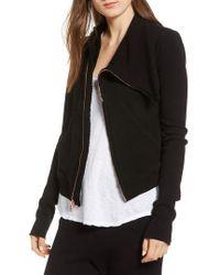 Frank & Eileen - Frank & Eileen Asymmetrical Zip Fleece Jacket - Lyst