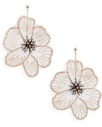 Serefina Flower Statement Drop Earrings