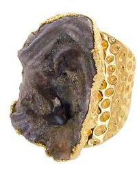 Panacea - Sunstone Drusy Statement Ring - Lyst
