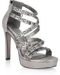 Adrianna Papell - Malia Crystal Embellished Platform Sandal - Lyst