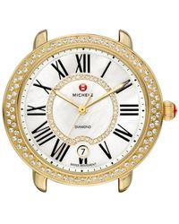 Michele - Serein 16 Diamond Gold Plated Watch Case - Lyst