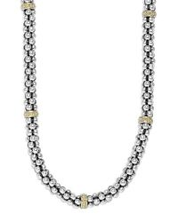 Lagos - Sterling Silver Caviar 3mm Rope Necklace - Lyst