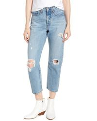 Levi's - Levi's Wedgie Ripped Straight Leg Jeans - Lyst