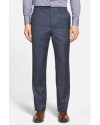 Santorelli - Flat Front Wool Trousers - Lyst
