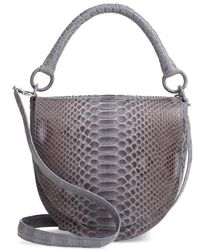 Nancy Gonzalez - Genuine Python Saddle Bag - Lyst