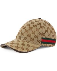 e6d2a14a2a7 Gucci - Original GG Canvas Baseball Hat With Web - Lyst