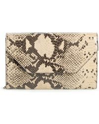 Halogen - Angled Leather Day Clutch - Lyst