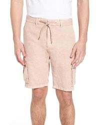 Scotch & Soda - Garment Dyed Cargo Shorts - Lyst