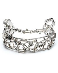 Alexis Bittar - Scattered Crystal Baguette Cuff Bracelet - Lyst