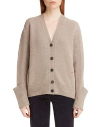 Victoria Beckham Folded Cuff Wool Cardigan