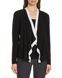 Eileen Fisher - Angled Front Knit Jacket - Lyst