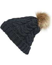 BP. - Knit Beanie With Faux Fur Pompom - - Lyst