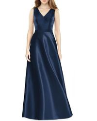 Alfred Sung - Sleeveless Sateen Gown - Lyst