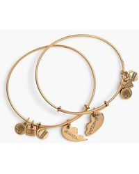 ALEX AND ANI - 'charity By Design - Best Friends' Adjustable Wire Bangles (set Of 2) - Lyst