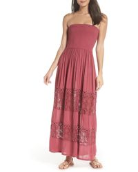 Chelsea28 - Farrah Smocked Cover-up Maxi Dress - Lyst