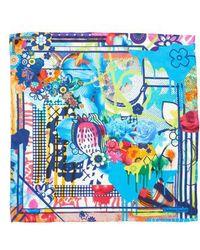 Christian Lacroix - Floral Silk Scarf - Lyst