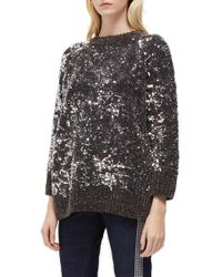 French Connection - Rosemary Sequin Knit Sweater - Lyst