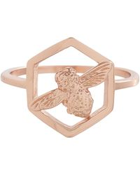 Olivia Burton - Honeycomb Bee Ring - Lyst