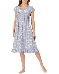 Eileen West Cap Sleeve Waltz Nightgown - Multicolour