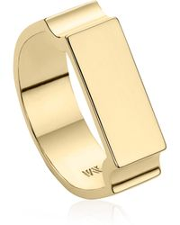 Monica Vinader - Engravable Wide Signature Ring - Lyst