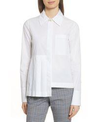 Robert Rodriguez - Asymmetrical Pleated Shirt - Lyst