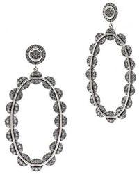 Freida Rothman - Cubic Zirconia Oval Drop Earrings - Lyst