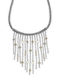 Lagos - 'caviar Icon' Rope Bib Necklace - Lyst