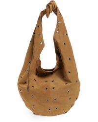 Saint Laurent - Bandana Bag Suede Hobo - Lyst