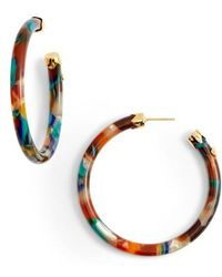 Gas Bijoux - Rainbow Mix Open Hoop Earrings - Lyst