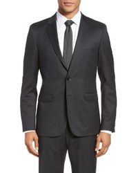 BOSS - Ryan Cyl Extra Trim Fit Solid Wool Sport Coat - Lyst