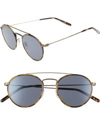 03c3c3e392366 Lyst - Paul Smith Elson Round Sunglasses in Metallic for Men