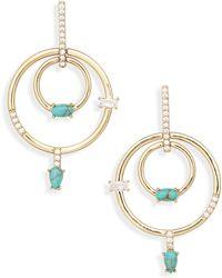 Nordstrom - Stone & Crystal Orbital Drop Earrings - Lyst
