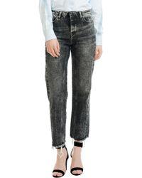 Maje - Paola Distressed Raw Hem Jeans - Lyst