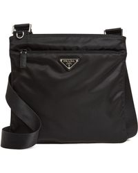 e5155176e9d7b2 Prada Nylon Gaufre Small Satchel in Black - Lyst