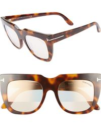 6cb9afee65 Tom Ford - Thea 51mm Mirrored Cat Eye Glasses - Shiny Havana  Pink Gold