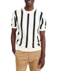 J.Crew - J.crew Stripe Pima Cotton Sweater - Lyst