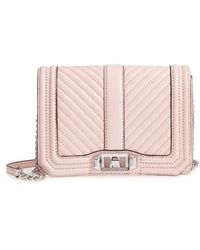 Rebecca Minkoff - Small Love Leather Crossbody Bag - Lyst