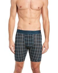 Tommy John - Second Skin Plaid Boxer Briefs - Lyst