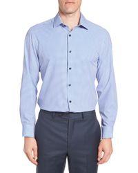 W.r.k. - Trim Fit Check 4-way Stretch Dress Shirt - Lyst