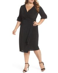Lost Ink - Wrap Dress - Lyst