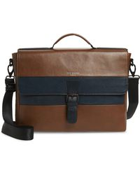 Ted Baker - Leather Briefcase - - Lyst