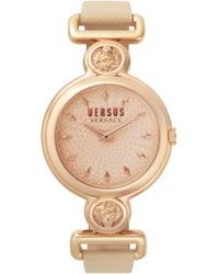 Versus - Sunnyridge Leather Strap Watch - Lyst