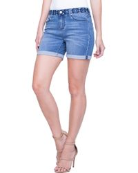 Liverpool Jeans Company - Vickie Embroidered Waist Denim Shorts - Lyst