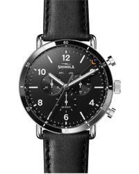 Shinola - Men's 45mm Canfield Chronograph Watch - Lyst