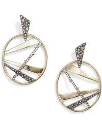 Alexis Bittar - Large Crystal Encrusted Plaid Hoop Earrings - Lyst