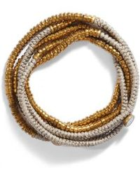 Serefina | Beaded Wrap Bracelet | Lyst